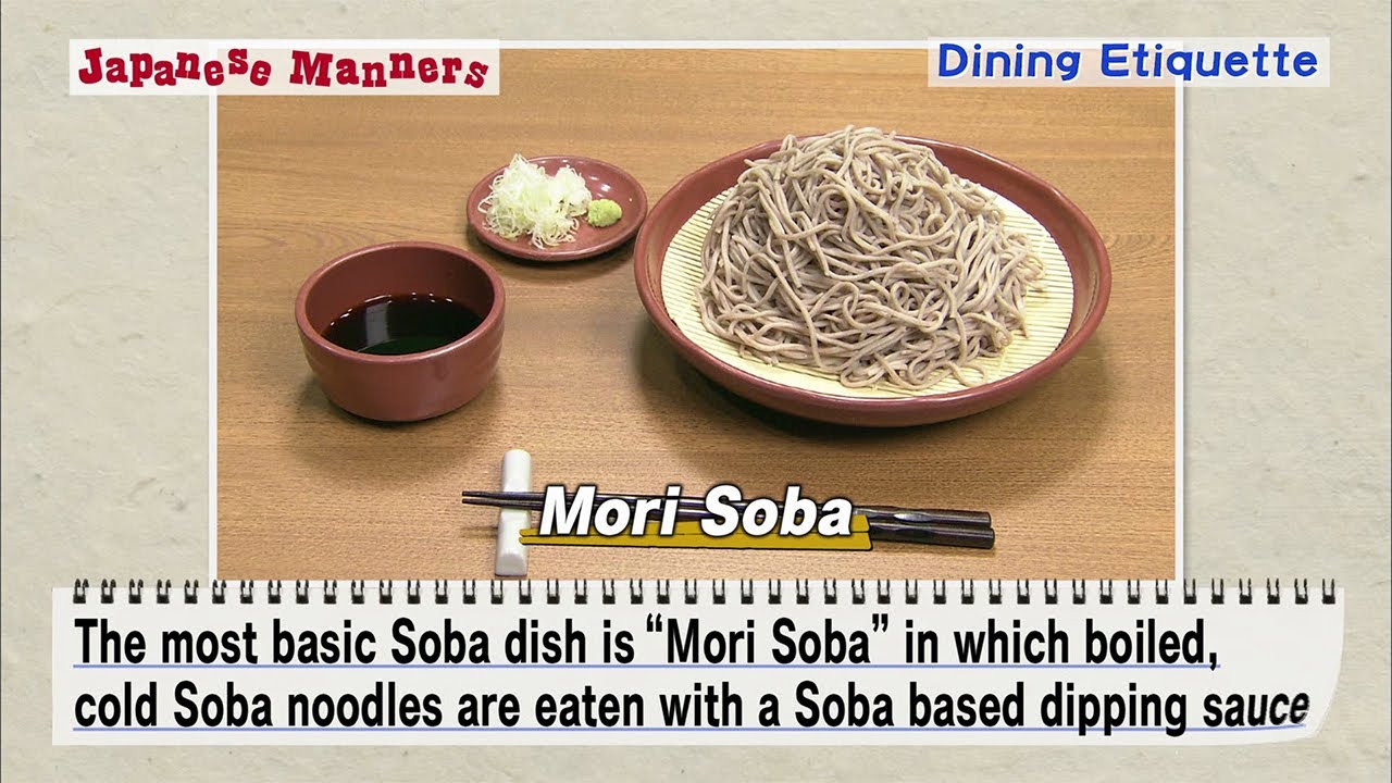 Japanese Manners: Dining Etiquette 1
